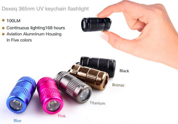 Dexeq_keychainUV365nmflashlight